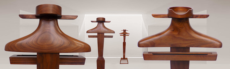 Wall Light Valet: eclectic  by Gentleman's Valet Company, Eclectic Wood Wood effect