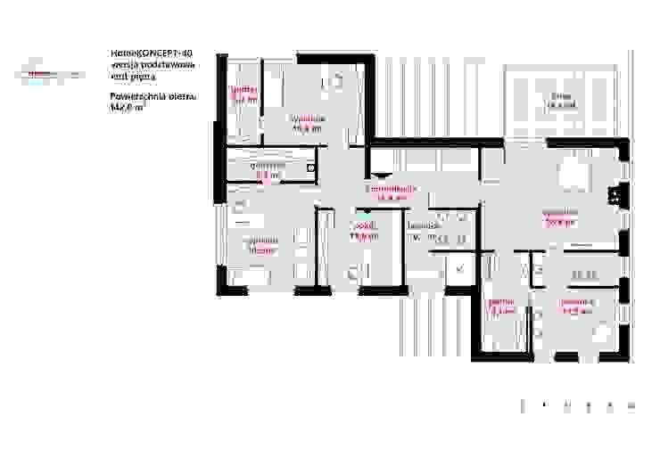 Casas de estilo  por HomeKONCEPT | Projekty Domów Nowoczesnych, Moderno