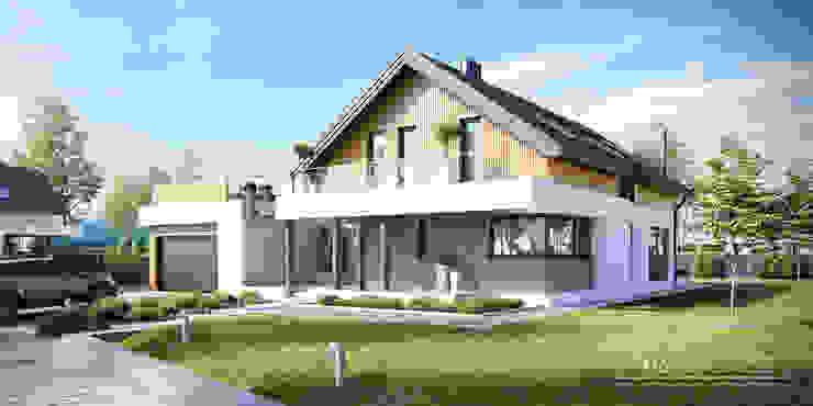 Moderne huizen van HomeKONCEPT | Projekty Domów Nowoczesnych Modern