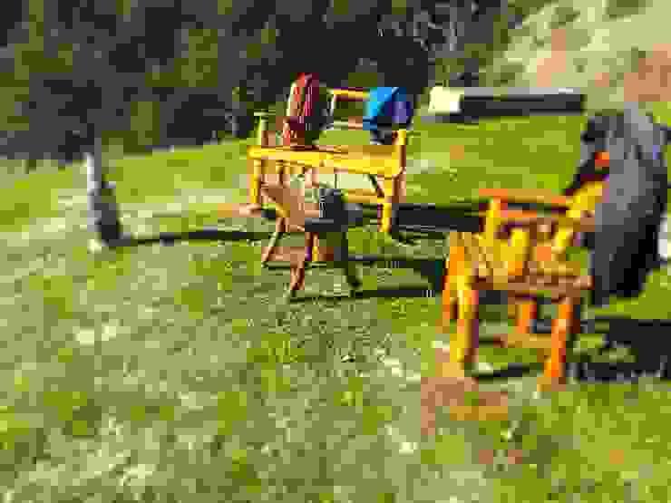 rustıc garden furniture/ doğal bahçe mobilyası Coşkun Ahşap Dekorasyon Rustik Ahşap Ahşap rengi