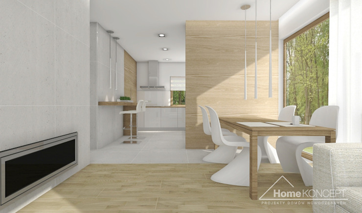 hiện đại  theo HomeKONCEPT | Projekty Domów Nowoczesnych, Hiện đại