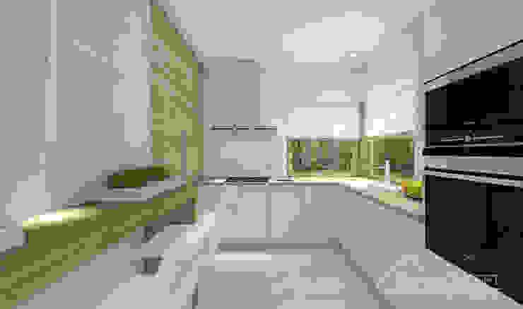 Nhà bếp phong cách hiện đại bởi HomeKONCEPT | Projekty Domów Nowoczesnych Hiện đại