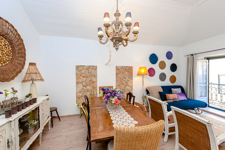 Country style dining room by alma portuguesa Country