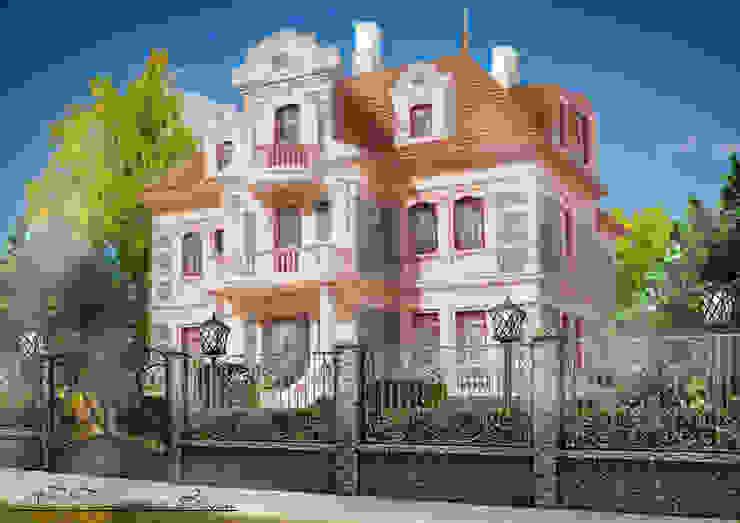 Некоторые эскизы и визуализации Дома в колониальном стиле от Геометрия Вкуса Колониальный