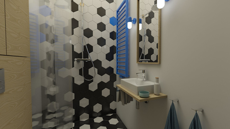 Industrial style bathroom by emc|partners Industrial Quartz