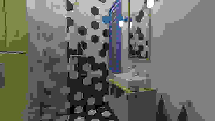 Mieszkanie w kamienicy Industrialna łazienka od emc|partners Industrialny Kwarc