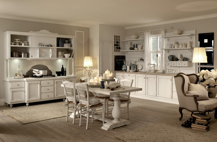 Shabby Chic Kitchen : country  by Casa Più Arredamenti, Country