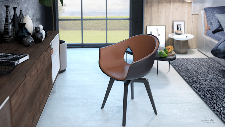 Chambre moderne par Santoro Design Render Moderne Bois Effet bois