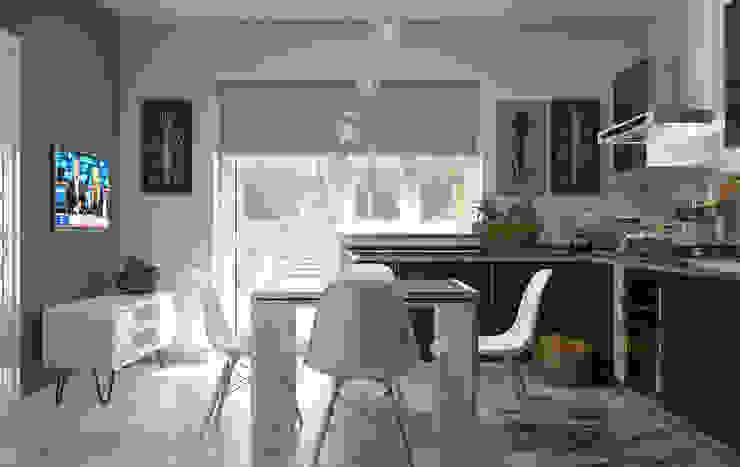 Cocinas modernas: Ideas, imágenes y decoración de Santoro Design Render Moderno