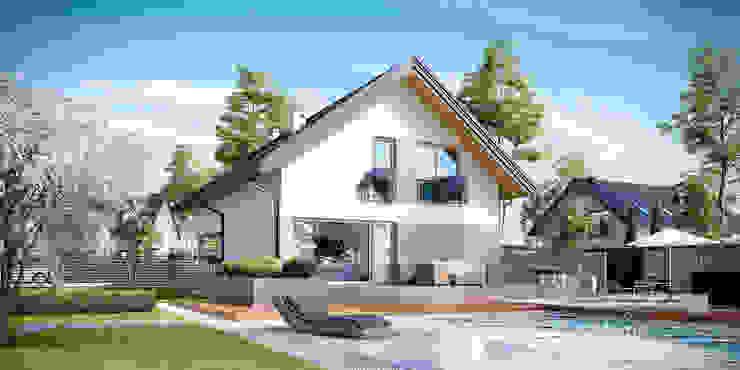 Projekt domu HomeKONCEPT-25- wizualizacje Nowoczesne domy od HomeKONCEPT | Projekty Domów Nowoczesnych Nowoczesny