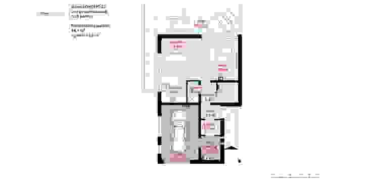 Projekt domu HomeKONCEPT-25- rzut parteru Nowoczesne domy od HomeKONCEPT | Projekty Domów Nowoczesnych Nowoczesny