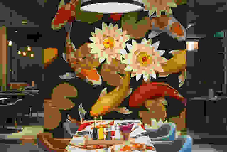 Carps and lotus Asiatische Wände & Böden von Pixers Asiatisch