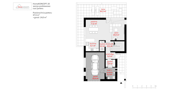 Projekt domu HomeKONCEPT 20 HomeKONCEPT | Projekty Domów Nowoczesnych