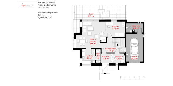 Projekt domu HomeKONCEPT 22 HomeKONCEPT | Projekty Domów Nowoczesnych