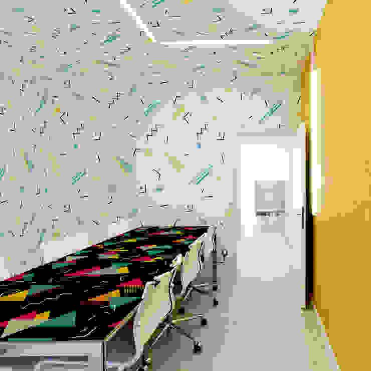 Memphis style Moderne Arbeitszimmer von Pixers Modern