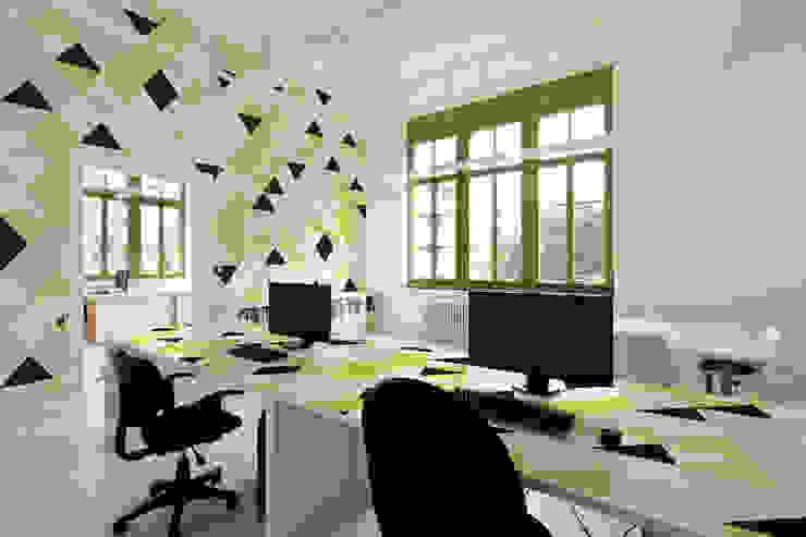 Green triangles Moderne Arbeitszimmer von Pixers Modern