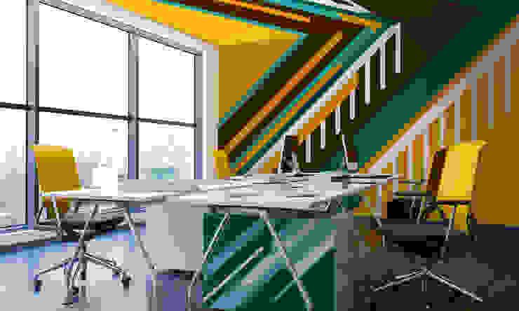 Striped wall Phòng học/văn phòng phong cách hiện đại bởi Pixers Hiện đại