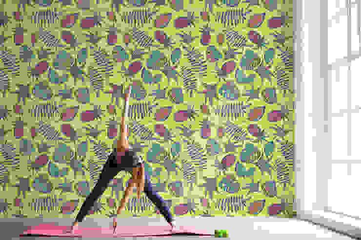Pastel Pineapples Moderner Fitnessraum von Pixers Modern