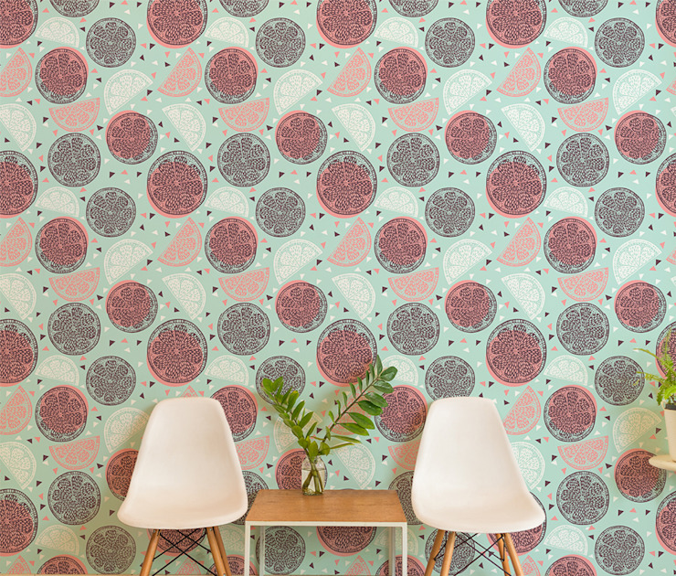 Sweet Citrus Pixers Modern study/office Multicolored