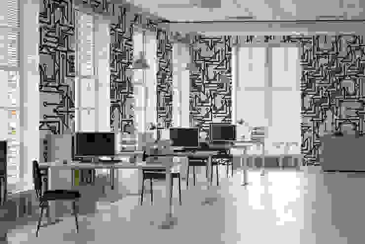 Monochromatic Map Moderne Arbeitszimmer von Pixers Modern