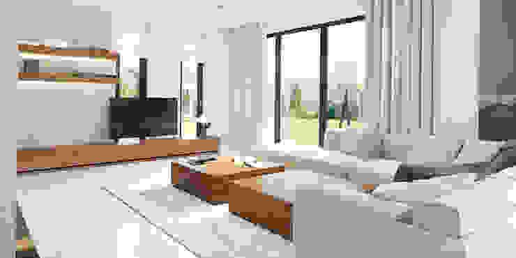 Modern living room by HomeKONCEPT | Projekty Domów Nowoczesnych Modern