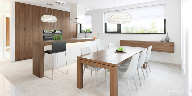 Modern dining room by HomeKONCEPT | Projekty Domów Nowoczesnych Modern