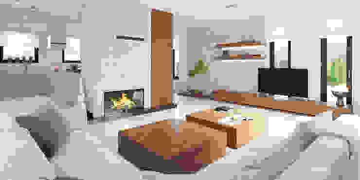 Livings de estilo moderno de HomeKONCEPT | Projekty Domów Nowoczesnych Moderno