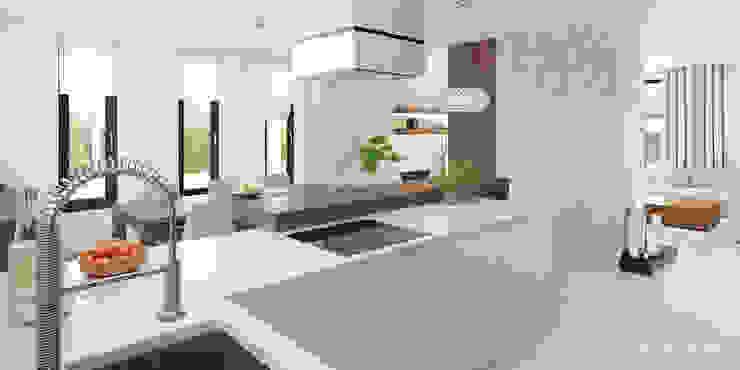Cocinas de estilo moderno de HomeKONCEPT | Projekty Domów Nowoczesnych Moderno