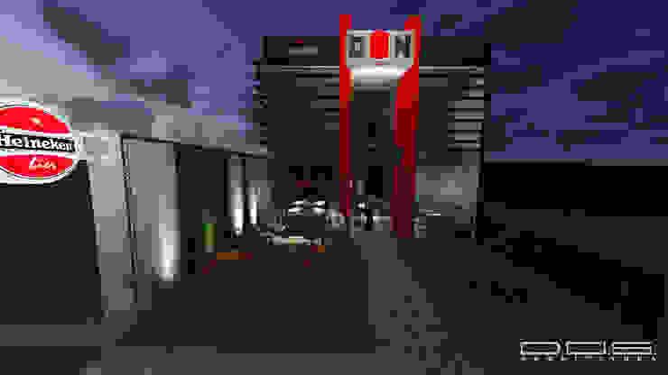 Estúdio 12b Bars & clubs Concrete Red