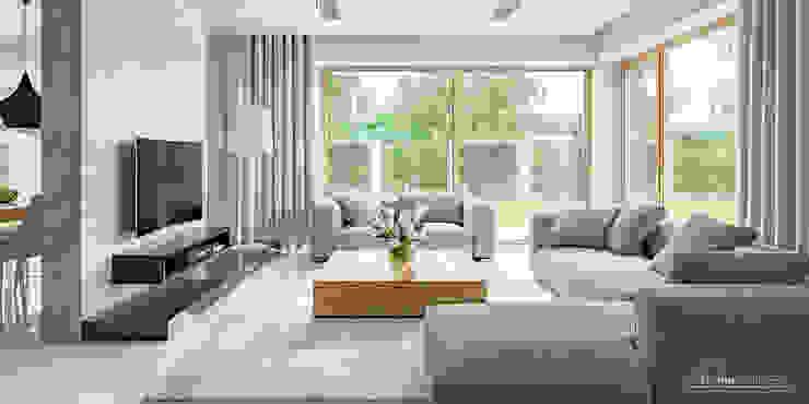 HomeKONCEPT | Projekty Domów Nowoczesnych:  tarz Oturma Odası, Modern