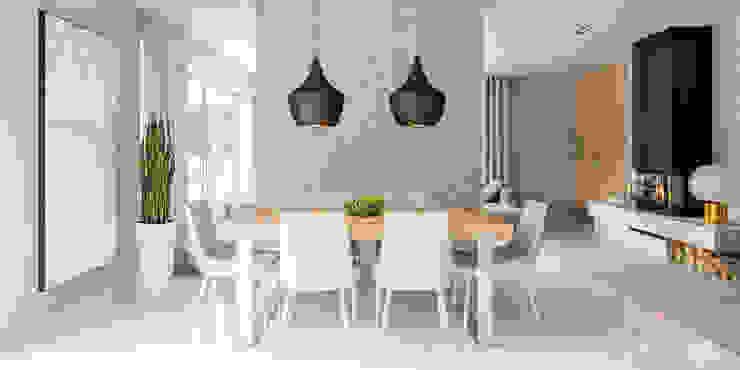 HomeKONCEPT | Projekty Domów Nowoczesnych:  tarz Yemek Odası, Modern