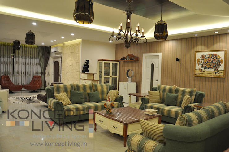 Living Room With Amazing Lights and Suitable Furniture Classic style living room by Koncept Living Classic