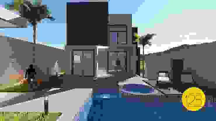 Moderne Pools von Estúdio 12b Modern