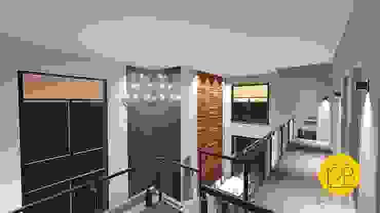 Moderner Flur, Diele & Treppenhaus von Estúdio 12b Modern