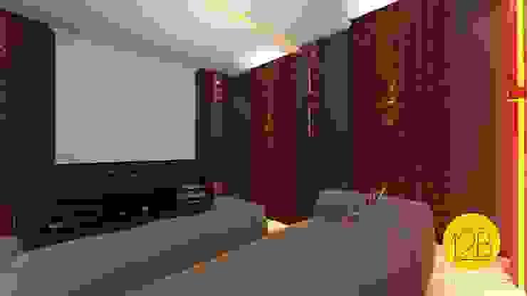 Moderner Multimedia-Raum von Estúdio 12b Modern