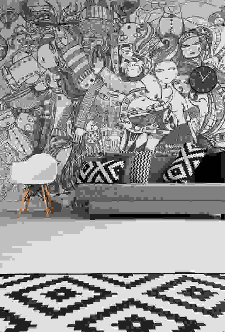BandIt Design Modern walls & floors Black