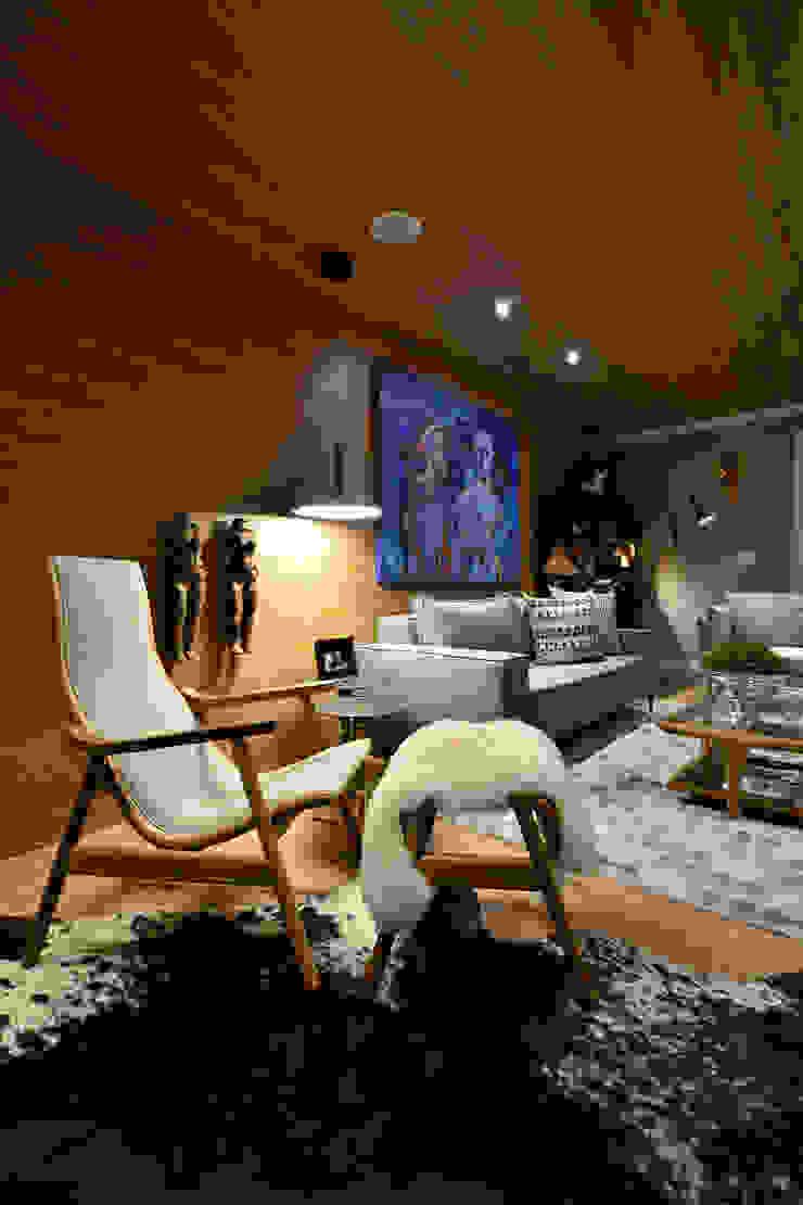 Scandinavian style living room by Johnny Thomsen Arquitetura e Design Scandinavian Wood Wood effect