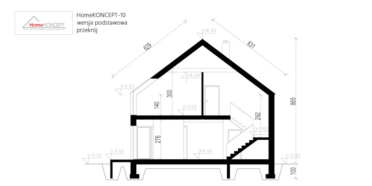 Projekt domu HomeKONCEPT-10 homify Nowoczesne domy