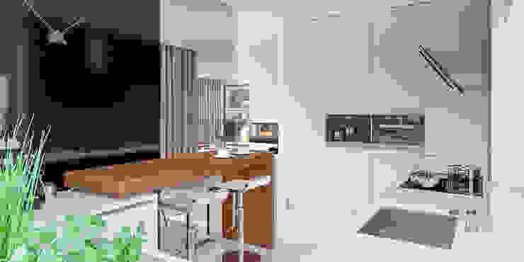 ห้องครัว โดย HomeKONCEPT | Projekty Domów Nowoczesnych,