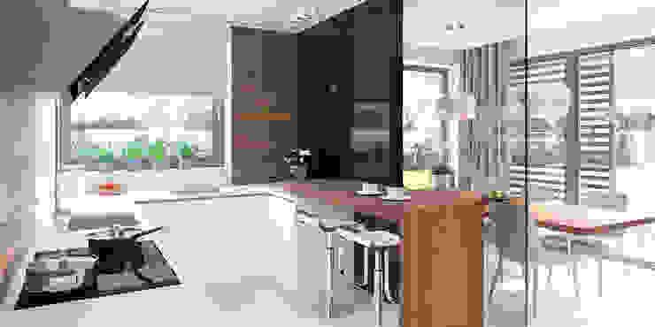 Dapur oleh HomeKONCEPT | Projekty Domów Nowoczesnych, Modern