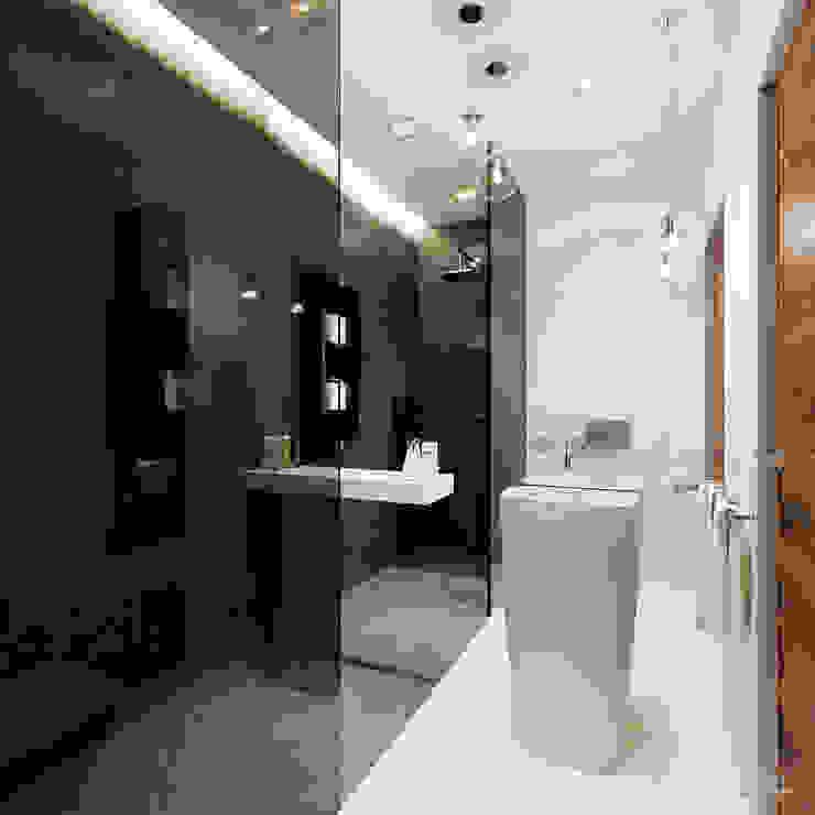 ห้องน้ำ โดย HomeKONCEPT | Projekty Domów Nowoczesnych,