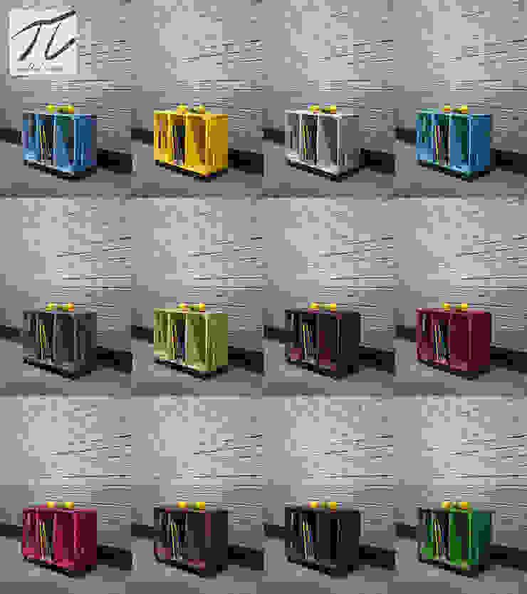 szafka- stolik ze srzynki kolory od Palletideas Skandynawski Drewno O efekcie drewna
