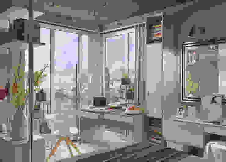Дмитрий Каючкин Habitaciones de estilo industrial