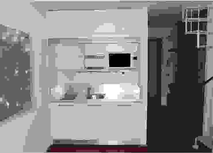 Mini Cucina monoblocco a scomparsa modello MiniSize 170 Cucina moderna di SIZEDESIGN SMART KITCHENS & LIVING Moderno