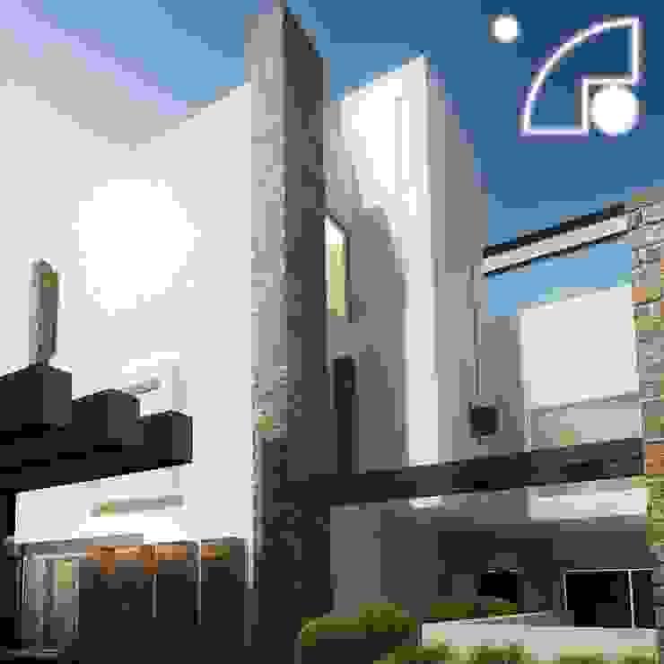 Fachada posterior Casas modernas de ECM arquitectura Moderno