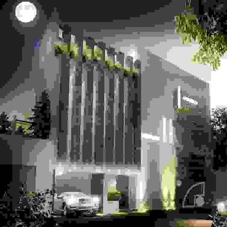 Fachada principal Casas modernas de ECM arquitectura Moderno