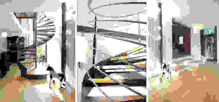 Modern Corridor, Hallway and Staircase by Architekturbüro Schumann Modern