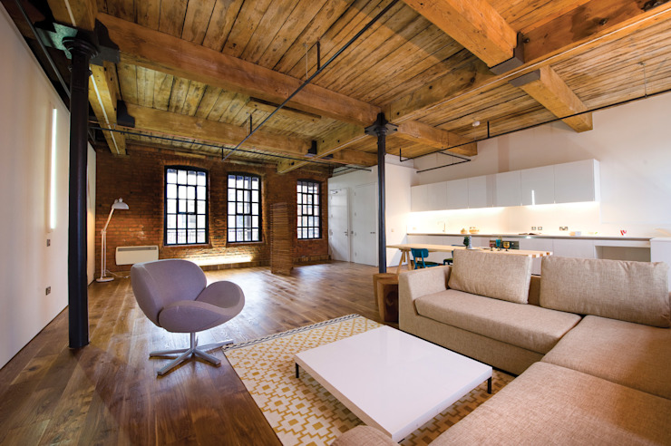 Albert Mill Apartments in Manchester Modern Living Room by Studio Maurice Shapero Modern