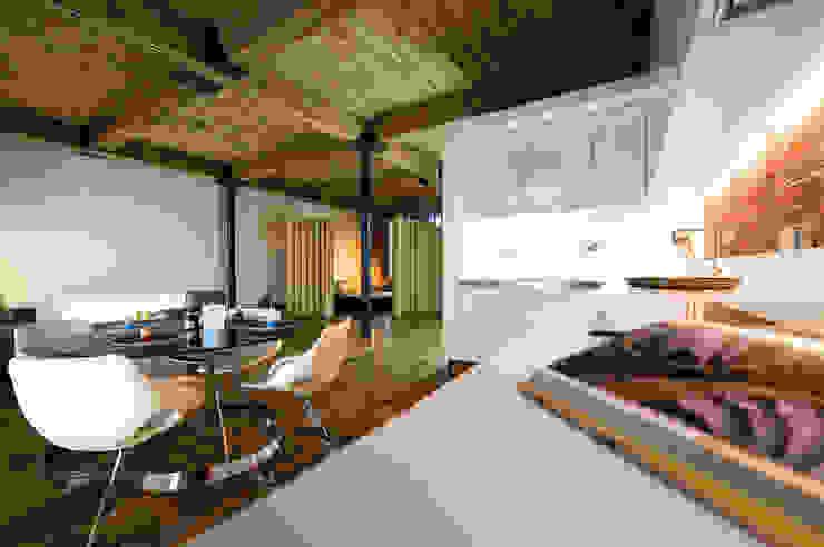Albert Mill Apartments in Manchester Modern Kitchen by Studio Maurice Shapero Modern