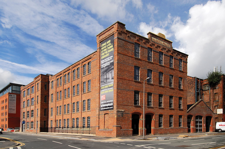 Albert Mill Apartments in Manchester Industrial style houses by Studio Maurice Shapero Industrial